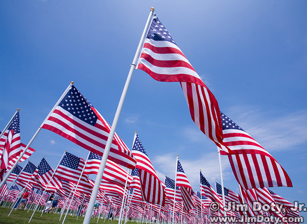 U.S. Flags. Westerville Ohio.